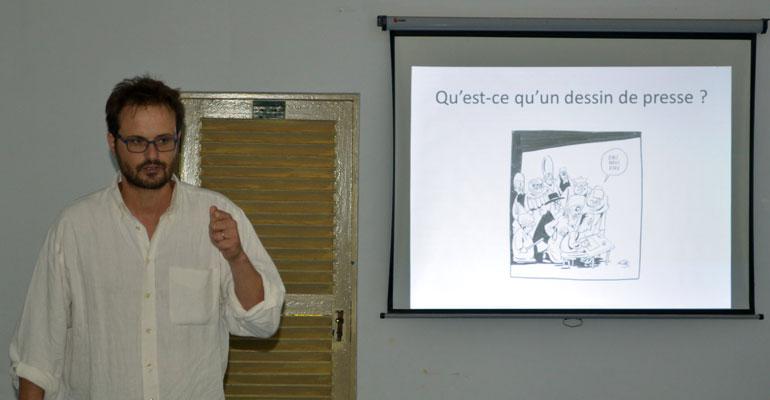 Nicolas Vadot, dessinateur de presse.
