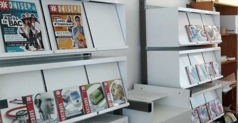 Kiosque d'orientation pour les lycéens