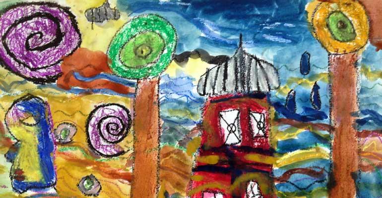 CE1 : projet artistique avec Hundertwasser