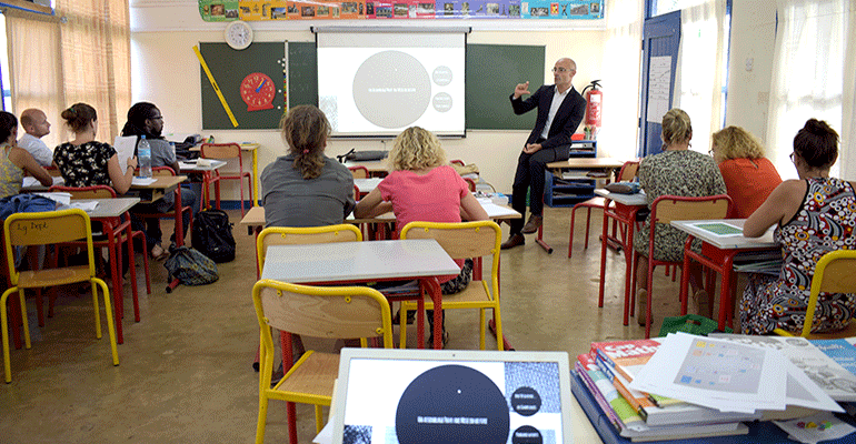 Une animation pédagogique pour les enseignants
