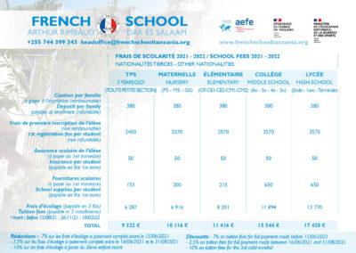 Fees French School Dar es Salaam 2